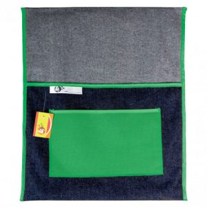 Trefoil Denim Chair Bag 440mm – Green