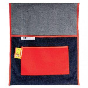 Trefoil Denim Chair Bag 440mm – Red