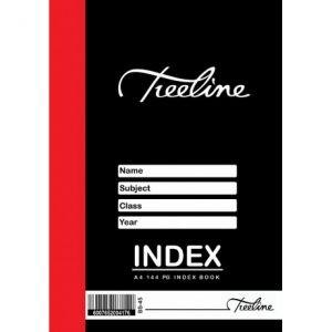 Treeline Index Book A4 – 144 Page