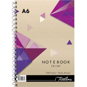 Treeline Note Book A6 Side Bound Feint And Margin – 100 Page