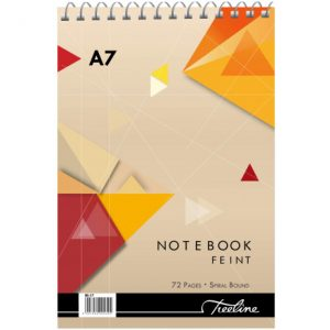 Treeline Note Book A7 Top Bound Feint And Margin – – 72 Page