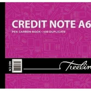 Treeline Pen Carbon Book Credit Note Duplicate A6