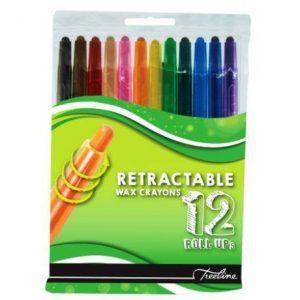 Treeline Colour Retractable Wax Crayons 12s