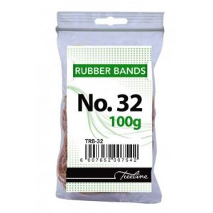 Treeline Rubber Bands 100g – No 32