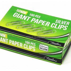 Treeline Paper Clips 50mm Silver – 100s