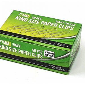 Treeline Paper Clips Wavy 77mm Silver – 50s