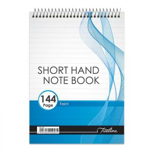 Treeline A5 Top Spiral Shorthand Pad – (144 Page)