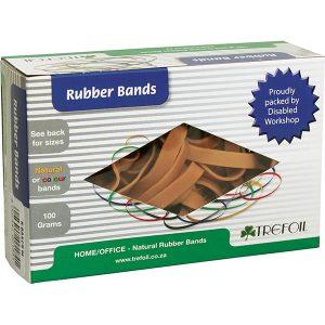Trefoil Rubber Bands No 10 – 100g