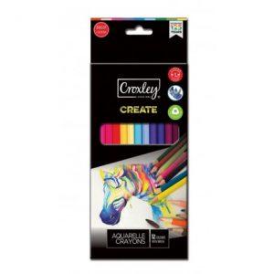 Croxley Create Aquarelle Colour Pencils – 12s