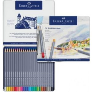 Faber Castell Goldfaber Aqua Watercolour Pencil – Tin Of 24