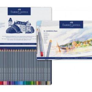 Faber Castell Goldfaber Aqua Watercolour Pencil – Tin Of 36