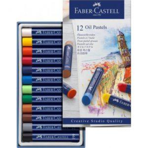 Faber Castell Oil Pastels – Cardboard Wallet Of 12