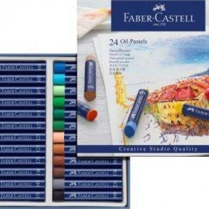 Faber Castell Oil Pastels – Cardboard Wallet Of 24