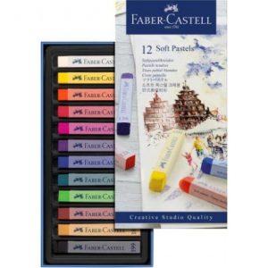 Faber Castell Soft Pastels – Cardboard Wallet Of 12