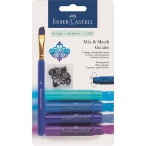Faber Castell Gelatos Water Soluble Crayons – 4 Shades Of Blue