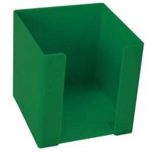 Treeline Memo Cube Holder Plastic – Green