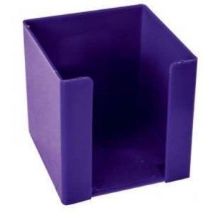 Treeline Memo Cube Holder Plastic – Electric Purple