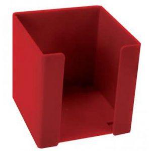 Treeline Memo Cube Holder Plastic – Red