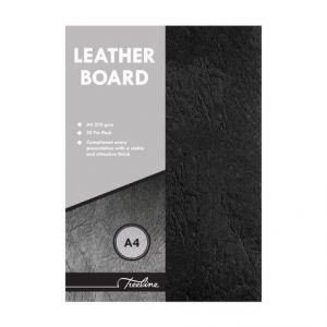 SDS Leather Grain Board Black A4 270gsm – Pack Of 50