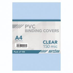 SDS – A4 Binding Cover CLEAR 150Micron