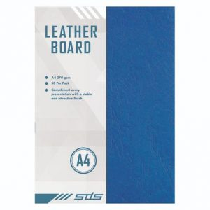 SDS Leather Grain Board Blue A4 270gsm – Pack Of 50