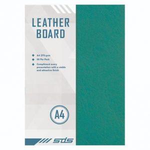 SDS Leather Grain Board Green A4 270gsm – Pack Of 50