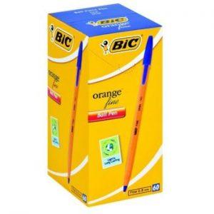 Bic Orange Fine Ballpoint Pen Blue (Box of 60)