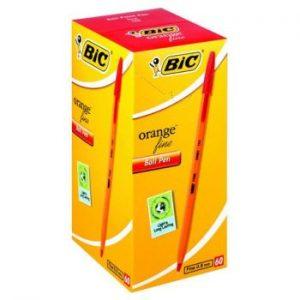 Bic Orange Fine Ballpoint Pen Red (Box of 60)