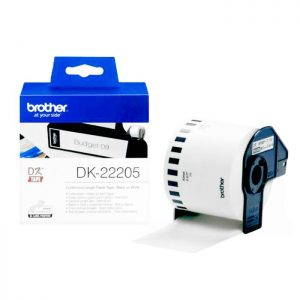 Brother DK22205 Labelling Tape Black On White Thermal Roll