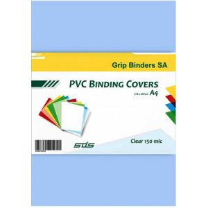 SDS – A4 Binding Cover Frosted 180Micron – CLEAR