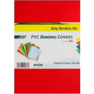 SDS – A4 Binding Cover Frosted 180Micron – Red