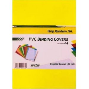 SDS – A4 Binding Cover Frosted 180Micron – Yellow