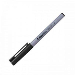 Artline 250 Permanent Marker 0.4mm Fineliner – Black
