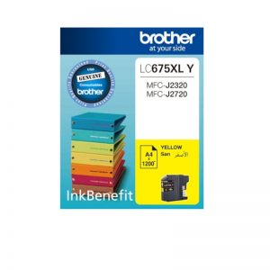 Brother LC-675 XL Yellow Original High Yield Ink Cartridge – LC 675 XLY